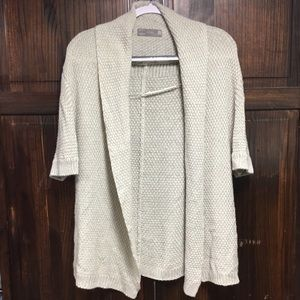 Zara open front cream colored sweater sz medium